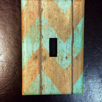 Chevron Single Light Switch Cover, Chevron Switchplate, Chevron Nursery Decor