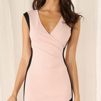 Black Lined Pink Dress