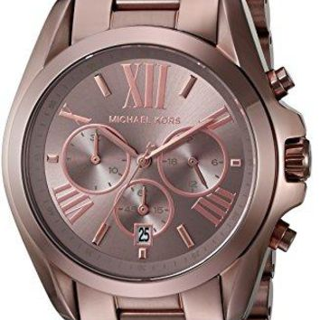 Michael Kors Women's Oversized Bradshaw Sabletone IP Watch