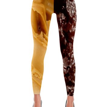Peanut Butter and Jelly Leggings
