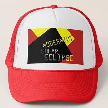 Modernist Solar Eclipse Funny customizable Trucker Hat