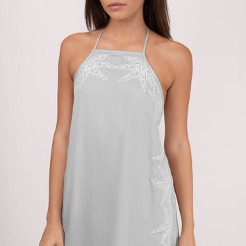 Sidelines Embroidery Shift Dress