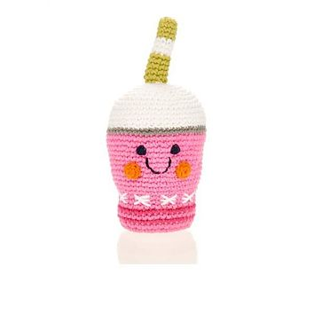 Pink Smoothie - Fair Trade Knitted Baby Rattle