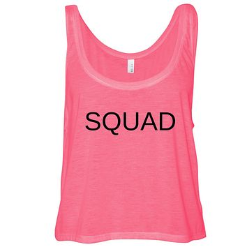 SQUAD Cropped Flowy Tank Top