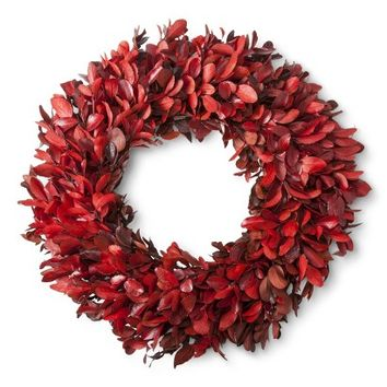Smith & Hawken® Fall Dried Red Wreath - 21.25""
