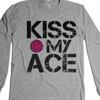 Kiss my ace pink volleyball long sleeve