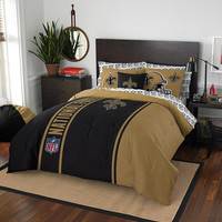 New Orleans Saints NFL Full Comforter Bed in a Bag (Soft & Cozy) (76in x 86in)