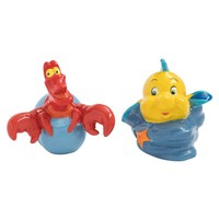 Sebastian and Flounder Ceramic Salt & Pepper Shakers