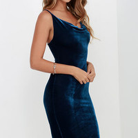 Jazzy Belle Blue Velvet Dress