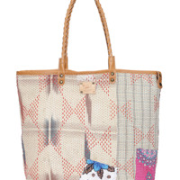 KANTHA QUILTED REVERSIBLE TOTE