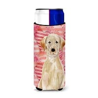 Yellow Labrador Love Michelob Ultra Hugger for slim cans BB9471MUK