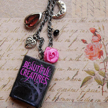Beautiful Creatures - a miniature book locket necklace