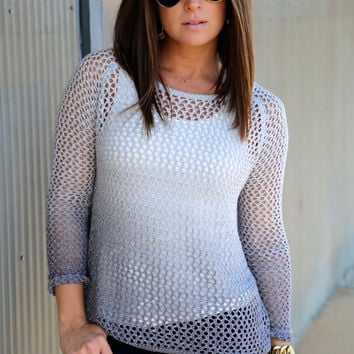 Shaded Crochet Knit {Gray}