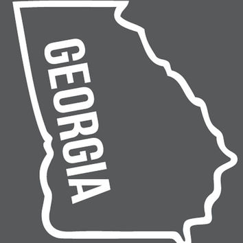 Georgia decal, state outline