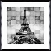 "Eiffel Tower 30 1/2"" Square Contemporary Giclee Wall Art - #3J642 