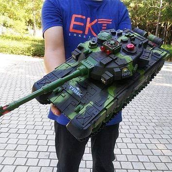 Super RC Big tank charger battle launch cross-country tracked RC vehicle