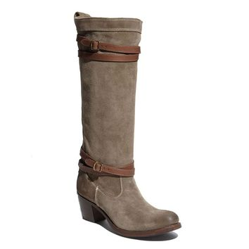 Frye Boot Jane Strappy - Fatigue Tall Boot