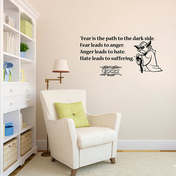 Star Wars Quote Wall Decals Quotes - Wall Vinyl Decal Stars - Wall Home Decor - Housewares Art Wall Vinyl Quote Decal L547