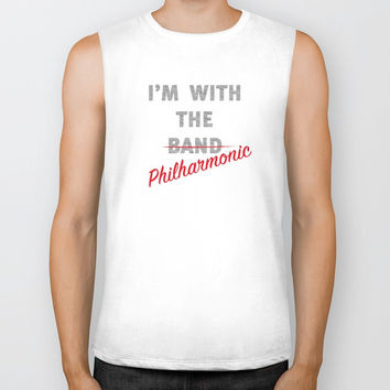I'm with the philharmonic // I'm with the cooler band Biker Tank by Camila Quintana S