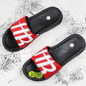 Nike Benassi Solarsoft Nba Houston Rockets Slider Slipper - Best Deal Online