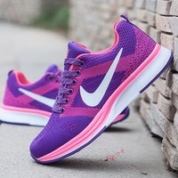 NIKE Trending Fashion Casual Sports Shoes Dots Lace up Purple