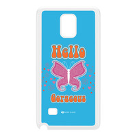 Sassy - Hello Gorgeous 10433 White Hard Plastic Case for Galaxy Note 4 by Sassy Slang