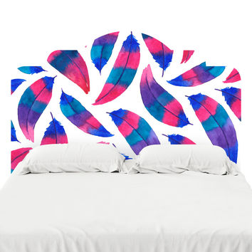 Feather Lust Headboard Decal