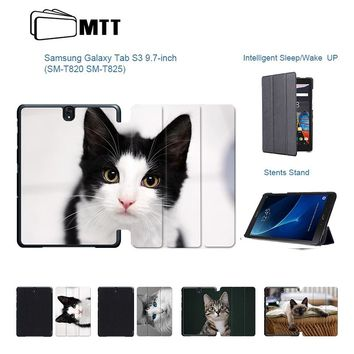 Cute Cats Tablet Case For Samsung Galaxy Tab Ultra-Thin PU Leather Tablet Cover
