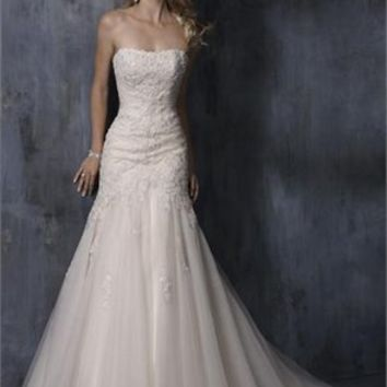 Awesome Strapless Mermaid Trumpet Wedding Dress PMDB090 -Shop offer 2012 wedding dresses,prom dresses,party dresses for girls on sale. #Category#