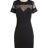 ModCloth LBD Long Short Sleeves Sheath Emcee You There Dress