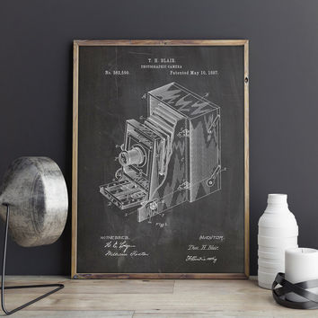 Camera Art Poster, Retro Camera Art, Camera Wall Poster, Camera Wall Print, Vintage Camera Decor, Camera Patent Poster,Art, INSTANT DOWNLOAD