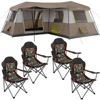 Walmart: Ozark Trail 12 Person Tent with 4 Chairs Value Bundle