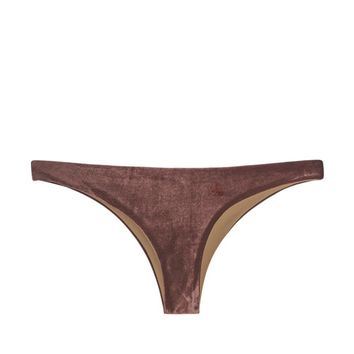 Lili Low Rise Cheeky Bikini Bottom - Plum