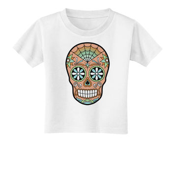 Version 6 Copper Patina Day of the Dead Calavera Toddler T-Shirt