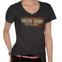 Fun Roller Derby Cool and Hip T Shirt from Zazzle.com