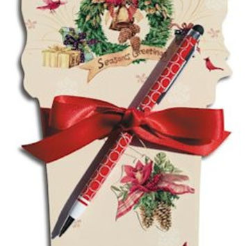 Holiday Favorites Die Cut Notepad and Pen