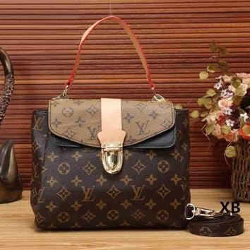 DCCKJG8 Louis Vuitton Women Fashion Leather Shoulder Bag Satchel Crossbody