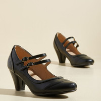 To Shoe It May Concern Mary Jane Heel in Black | Mod Retro Vintage Heels | ModCloth.com