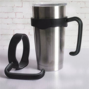 Best Promotion Plastic Anti-Slip Cup Holder Mug Handle Handgrip Replacement Fit For Yeti Rambler 20 Ounce Tumblers Cup Holder