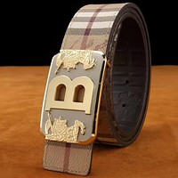 Women Fashion Smooth Buckle Belt Leather Belt