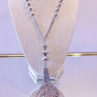 Vintage Beaded Tassel Necklace Chain Jewelry Fashion Accessories For Her
