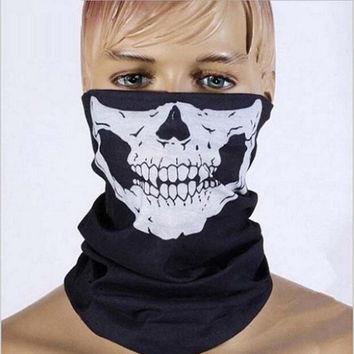 Halloween Skull Face Mask Party Masks Black Motorcycle Multi Function Headwear Hat Scarf Neck Scary Sport Face Winter Ski Mask
