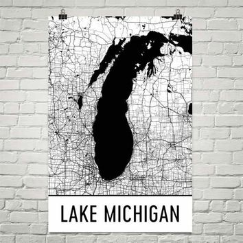 Lake Michigan Art and Maps