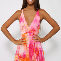 Walk It Playsuit - Pink Print