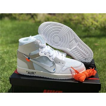 Off White X Air Jordan 1 White Sneaker | Best Deal Online