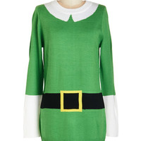 ModCloth Quirky Long Long Sleeve Elf Respect Tunic
