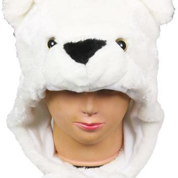 Children's White Bear Animal Winter Hat - CASE OF 12