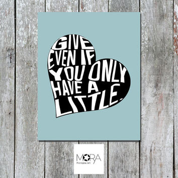 """Heart Quotes Printable Art .Vintage Decoration Inspirational quote. Quotes about life. Buddah quote typography Home Decor 8""""x 10"""""""
