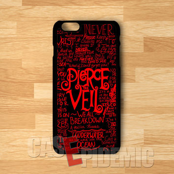 PTV red collage-1nay for iPhone 6S case, iPhone 5s case, iPhone 6 case, iPhone 4S, Samsung S6 Edge