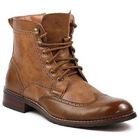 New Men's MPX-808567 Lace Up Wing Tip Perforated Dress Boot
